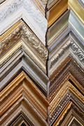 several frames richly decorated - stock photo