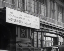WW1 - US - First Army Headquarters Island Ferry 01 Stock Footage