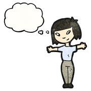 cartoon asian woman - stock illustration