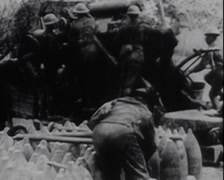 WW1 - US Soldiers - In Combat 04 Stock Footage