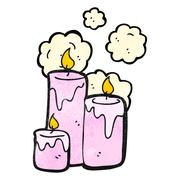 scented candle cartoon - stock illustration