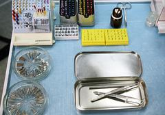 Stock Photo of sterile tools of the dentist