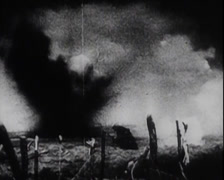 WW1 - US Soldiers - In Combat 06 - stock footage