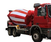 Cement mixer truck Stock Photos