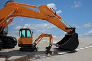 Stock Photo of two excavators