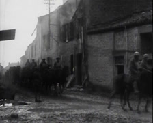 WW1 - US - Soldiers Marching In Europe 04 Stock Footage
