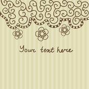 floral greeting card with place for your text. - stock illustration