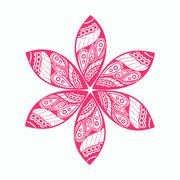 floral ornament, decoration - stock illustration