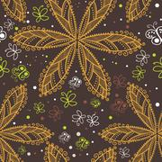 Seamless texture with flowers. endless floral pattern. seamless pattern can b Stock Illustration