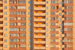Habitation orange block Stock Photos
