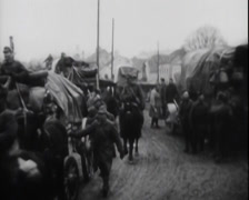 WW1 - US Soldiers - Marching In Europe 06 Stock Footage
