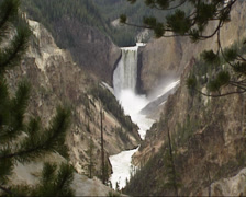 Lower Falls in Yellowstone river -  Grand Canyon Stock Footage