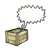 Stock Illustration of cartoon empty wooden crate