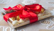 Stock Photo of gift for the holiday of new year, christmas, easter, birthday, anniversary, e