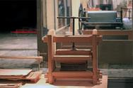 Stock Photo of wooden press for binding of books  in the workshop