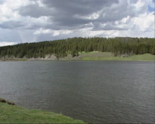 Hayden Valley, Yellowstone National Park: pan flooded valley in spring Stock Footage