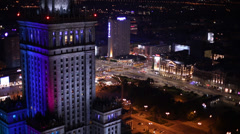 Warsaw Palace of Culture Stock Footage