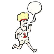 Cartoon running man Stock Illustration