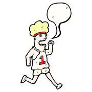 cartoon running man - stock illustration