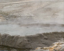 Bubbling water in Cliff geyser, Black Sand Basin, Yellowstone National Park. Stock Footage