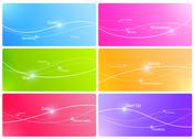 Stock Illustration of background design template. lines with points and words.