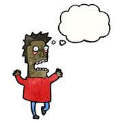 Cartoon terrified man Stock Illustration
