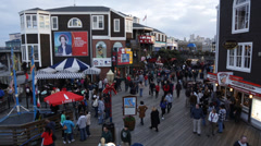 Pier 39 in San Francisco Stock Footage
