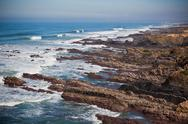 Stock Photo of western portugal ocean coastline