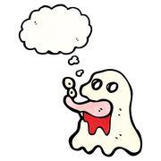 Gross cartoon ghost Stock Illustration