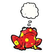 Stock Illustration of poisonous frog with thought bubble