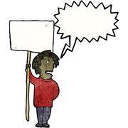 Stock Illustration of political protest cartoon