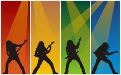 Rock musicians Stock Illustration