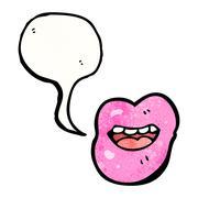Sexy cartoon lips Stock Illustration
