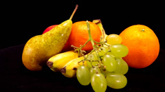 Different types of fruit. Stock Footage