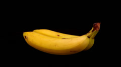 Two bananas Stock Footage