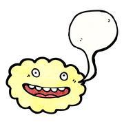Stock Illustration of cartoon cloud with speech bubble