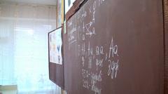 School board with the written letters Stock Footage