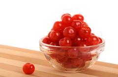 bowl of cherries. - stock photo