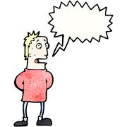 Stock Illustration of cartoon man calling out