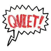Stock Illustration of shout for quiet cartoon
