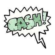 Stock Illustration of cartoon shout for cash