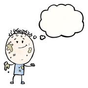 Cartoon muddy boy Stock Illustration
