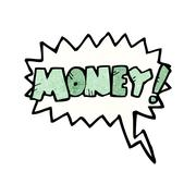 Stock Illustration of cartoon shout for money