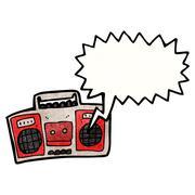 Cartoon radio Stock Illustration