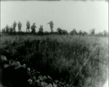WW1 - US Troops - Front line 04 - Storming Forward 01 Stock Footage