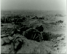 WW1 - US Troops - Front line 07 - Firing Artillery 02 Stock Footage