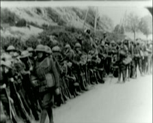 WW1 - US Troops - Inspection 01 Stock Footage