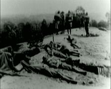 WW1 - US Troops - Sleeping 02 - stock footage