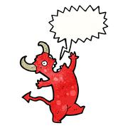 Stock Illustration of shouting little devil cartoon