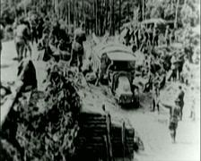 WW1 - US Troops - Transportation 01 Stock Footage